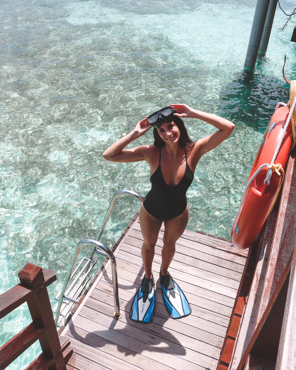 Snorkeling adventures in the Maldives.